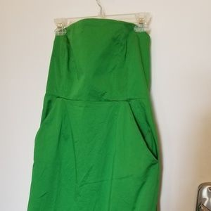 NY and CO strapless green dress so 12